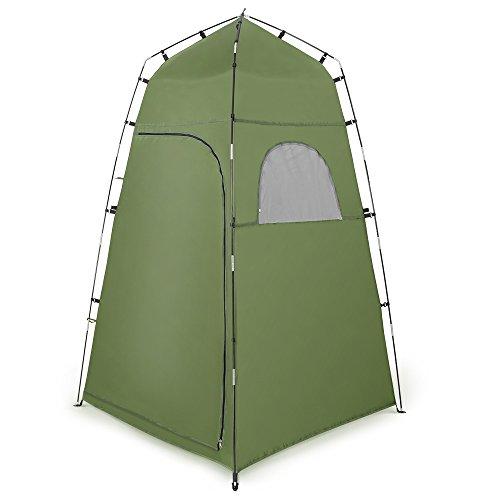 Terra Hiker テント 着替え プライベート シャワー 簡易トイレ ビーチ 海水浴 アウトドア 設置簡単 収納便利 UVカット グリーン