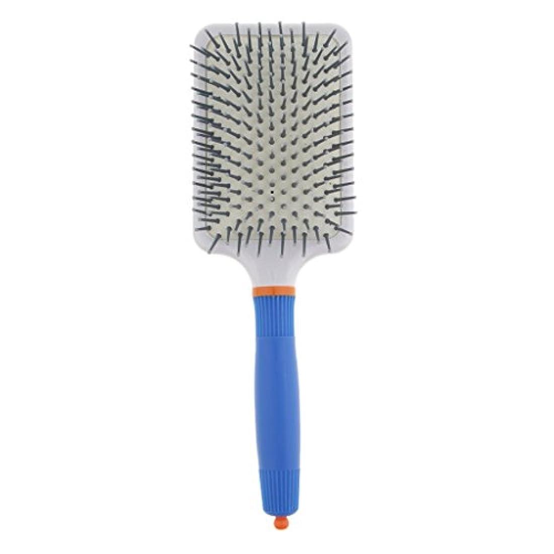 検索エンジンマーケティング中古ゲートT TOOYFUL プラスチック製 ブラシ 頭皮マッサージブラシ フラットヘアブラシ 櫛 静電気防止 全2色 - ダークブルー