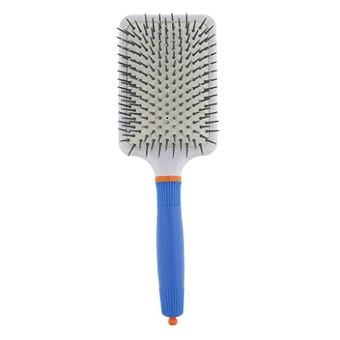 リダクター逃す傾向がありますT TOOYFUL プラスチック製 ブラシ 頭皮マッサージブラシ フラットヘアブラシ 櫛 静電気防止 全2色 - ダークブルー
