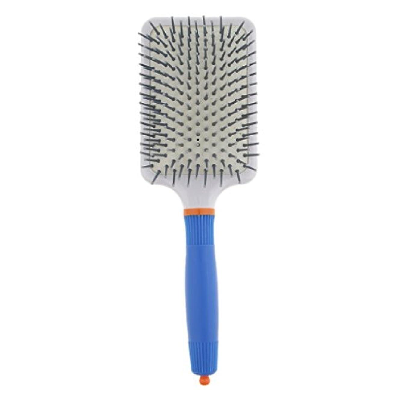 熟達申し立てる南西プラスチック製 ブラシ 頭皮マッサージブラシ フラットヘアブラシ 櫛 静電気防止 全2色 - ダークブルー