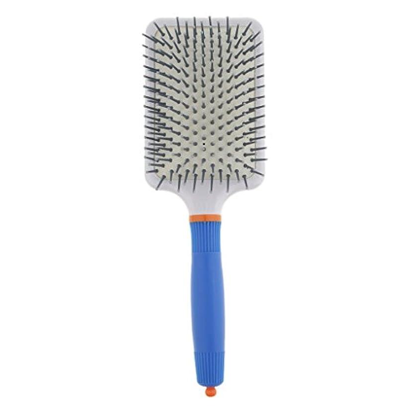 平衡神未就学T TOOYFUL プラスチック製 ブラシ 頭皮マッサージブラシ フラットヘアブラシ 櫛 静電気防止 全2色 - ダークブルー