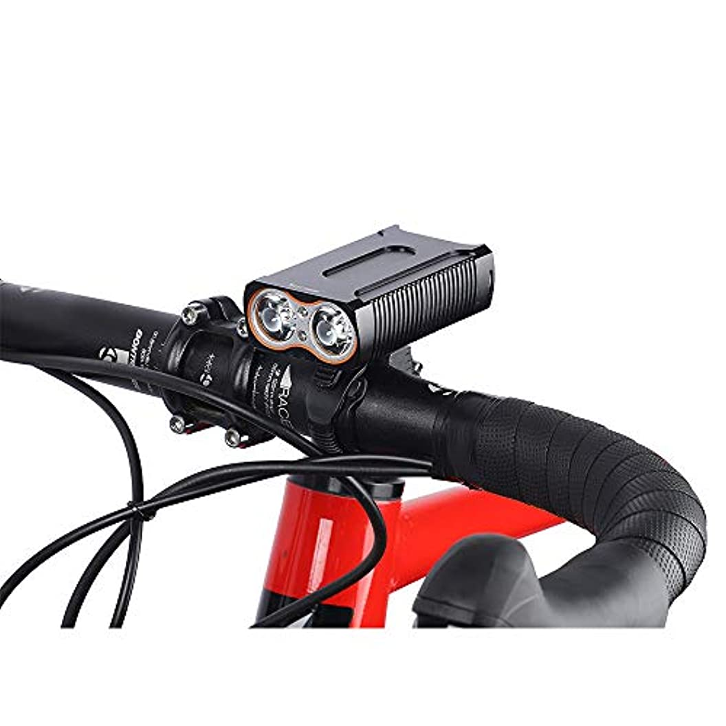ファンシー放送トレッドMAX 2400LM自転車ライトUSB 2 T6 LEDフロントランプサイクリングヘッドライトIP-65防水テールランプ自転車ライトを充電