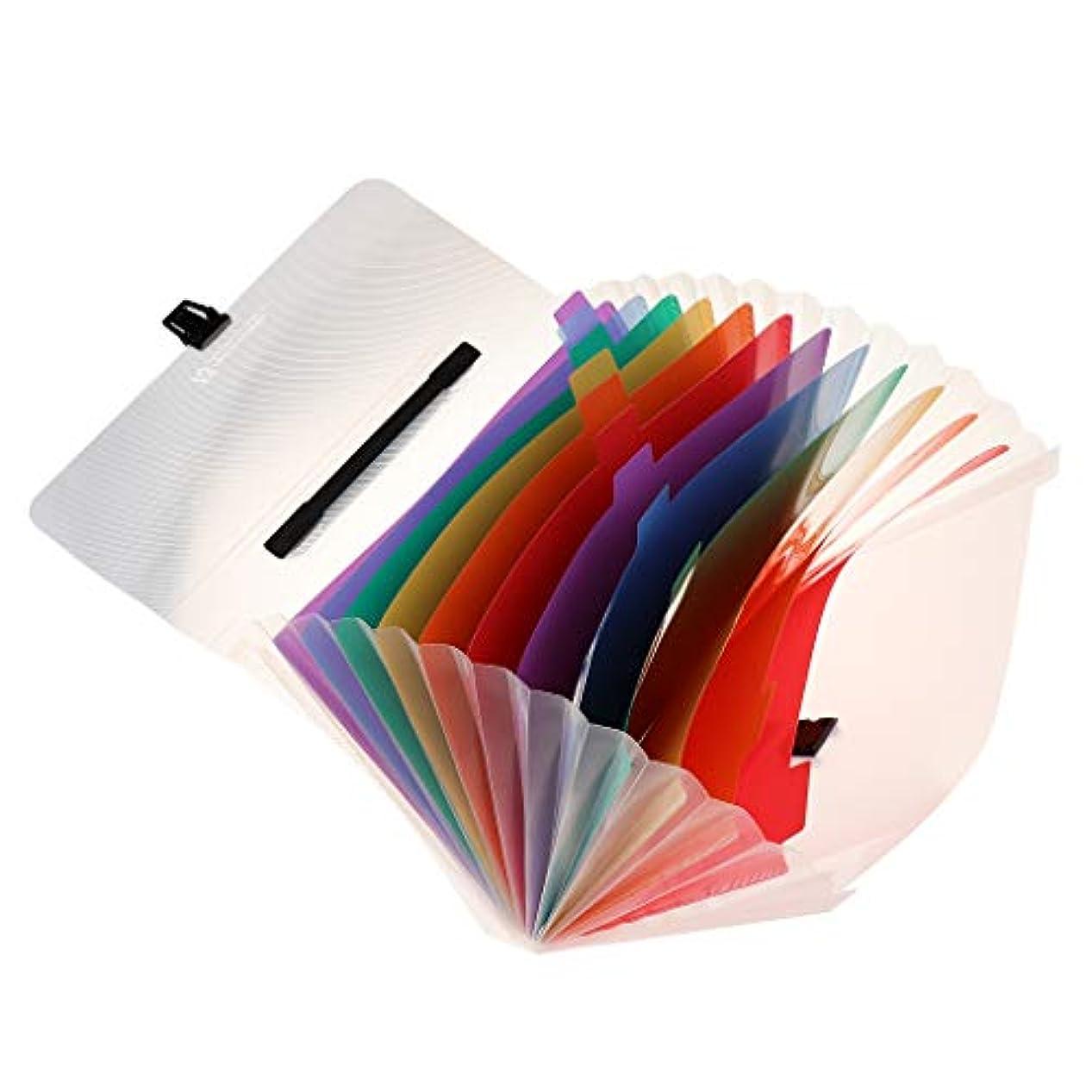 自殺本質的ではないレトルトKESOTO ファイルフォルダー 13ポケット 約1000枚収納可能 多色文字紙収納袋 多機能 持ち運び便利 高品質 耐久性