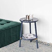 FEIFEI 2ティアラウンド木製ソファーテーブルサイドテーブルエンドテーブル紅茶コーヒーテーブル40 * 60CM (色 : B)