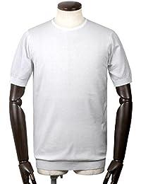 ジョンスメドレー JOHN SMEDLEY / 18SS!シーアイランドコットン30ゲージクルーネック半袖ニット『BELDEN』 (WHITE/ホワイト) メンズ
