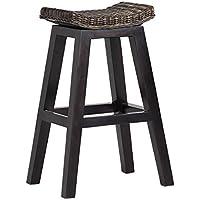 arne BALI ハイスツール 椅子 木製 ラタン カウンターチェアー アジアン バリ 家具 ダークブラウン