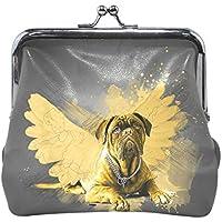 がま口 財布 口金 小銭入れ ポーチ 犬 翼 Jiemeil バッグ かわいい 高級レザー レディース プレゼント ほど良いサイズ