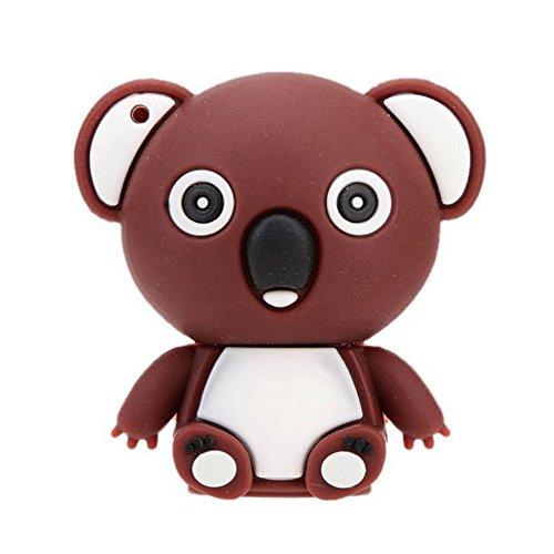 Uディスク,SODIAL(R) USB2.0フラッシュディスクドライブストレージペン親指ドライブ、メモリースティック漫画の動物ミニブラウン8GB