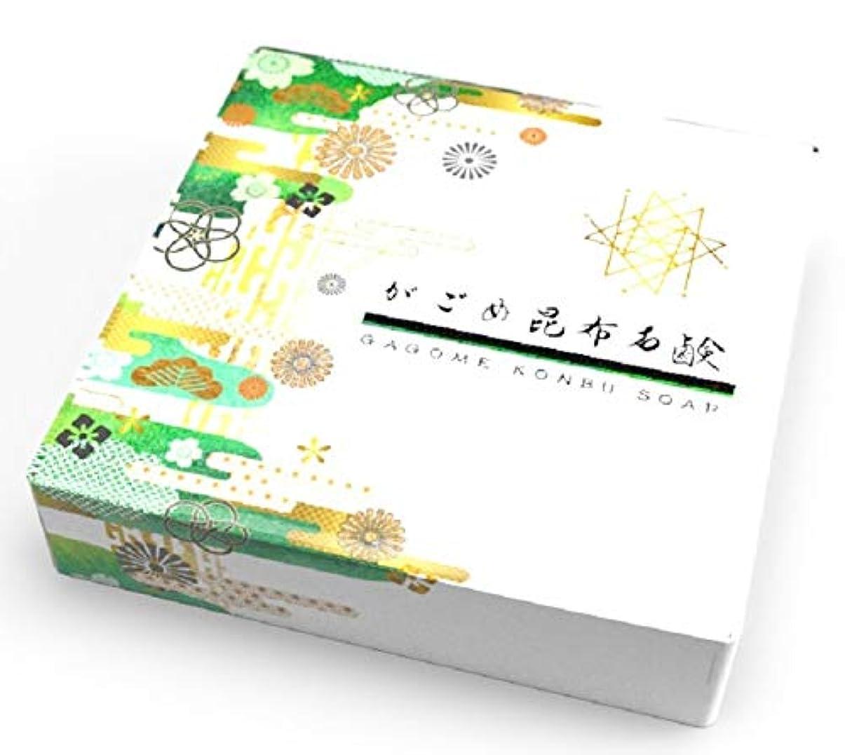 リス同行リスHibis がごめ昆布石鹸 手作り 無添加 コールド?プロセス製法 高保湿 乾燥肌 敏感肌 アトピー ガゴメ昆布使用 固形石鹸 (85g)