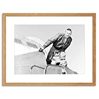 Space Photo Astronaut Neil Armstrong Moon Icon Hero USA Framed Wall Art Print アメリカ合衆国