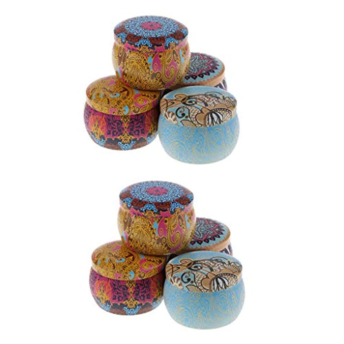 ボリュームグラマー料理アロマキャンドル 缶キャンドル 香りキャンドル スポータブル ナショナルスタイル 8個入り