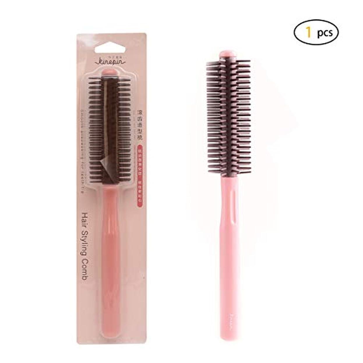 協力不適名声Dofashラウンドスタイリングヘアブラシ - 1.75インチ径 - ブロードライヤー&カーリングロールヘアブラシ女性と男性のためのプラスチック製のハンドル付き - ブロー乾燥カールしながら乾燥した髪と乾いた髪