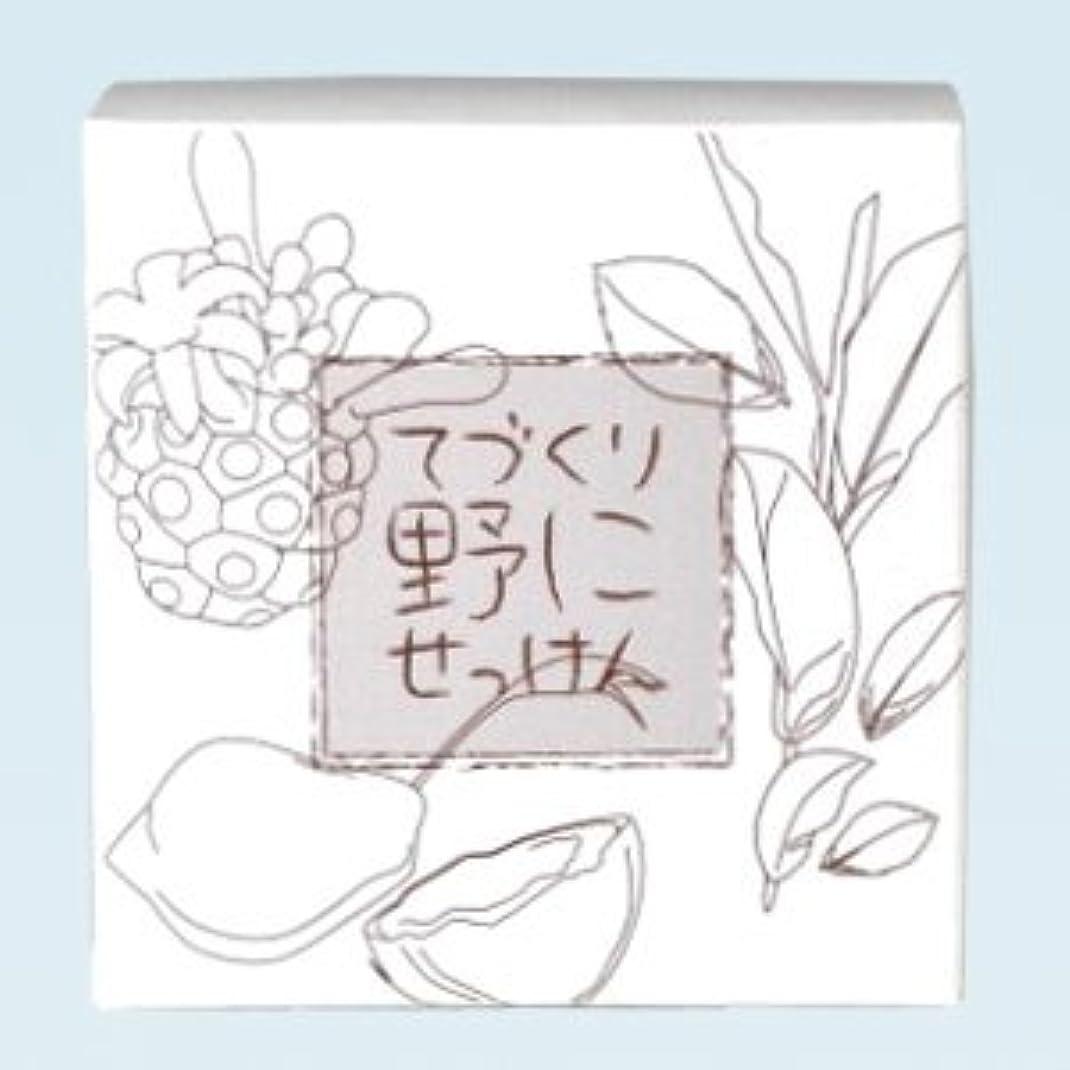 ベッド標高飛行機緑茶ノニ石鹸 てづくり野にせっけん(115g)