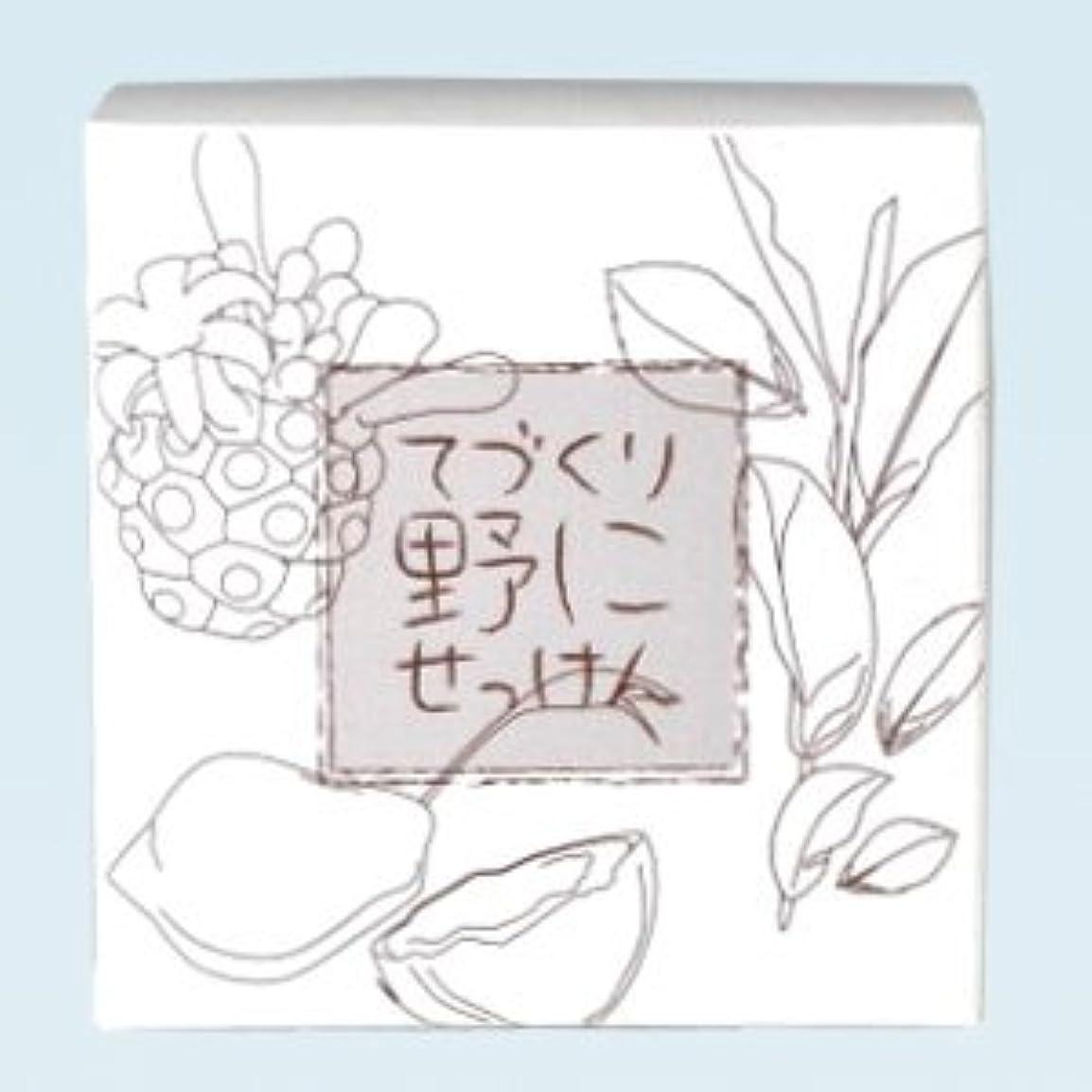 酔った肉の精神的に緑茶ノニ石鹸 てづくり野にせっけん(115g)