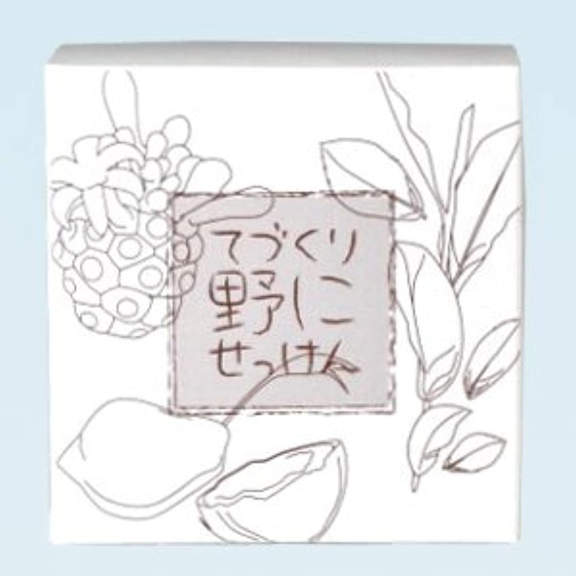 童謡適用済み蜜緑茶ノニ石鹸 てづくり野にせっけん(115g)