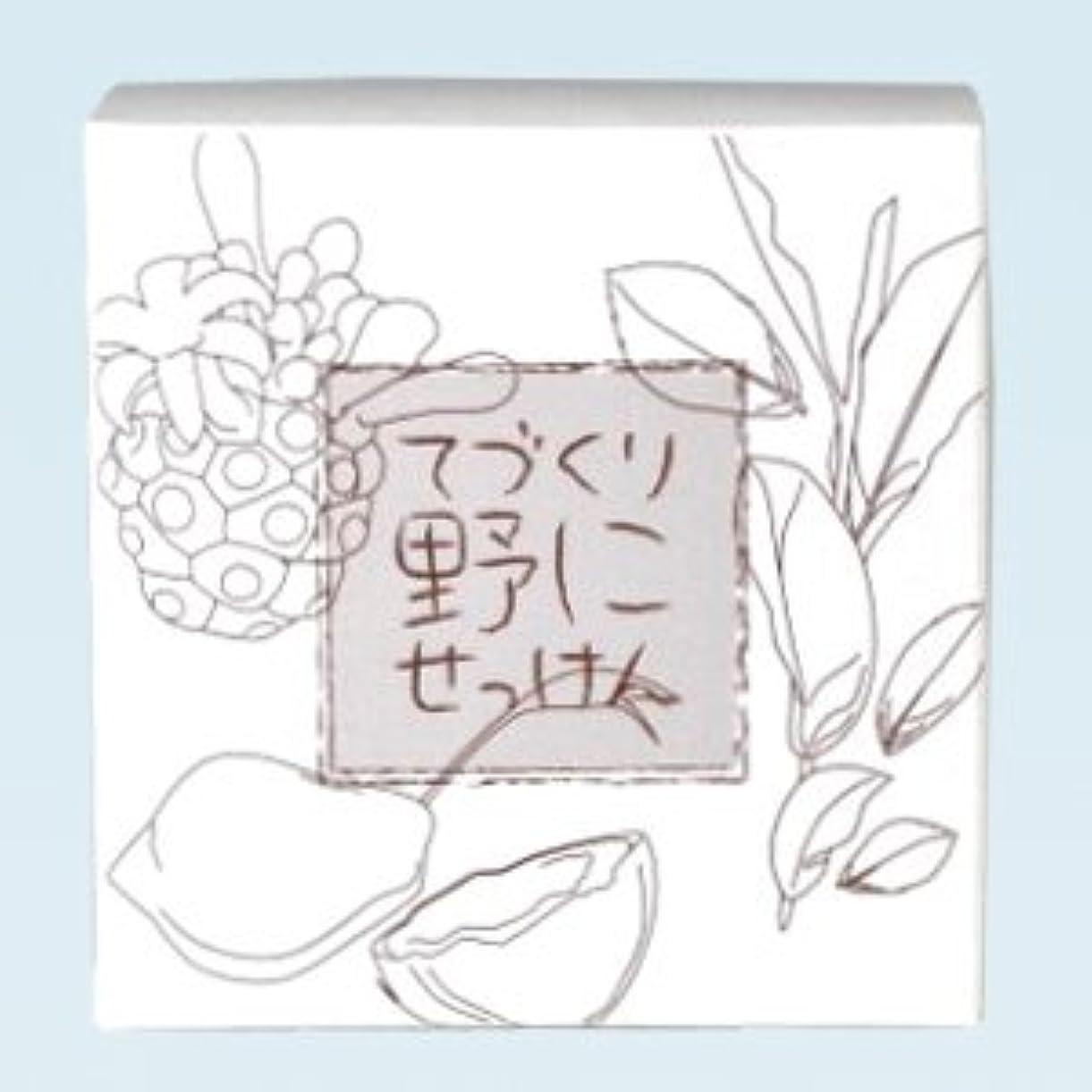 本物欺く捕虜緑茶ノニ石鹸 てづくり野にせっけん(115g)