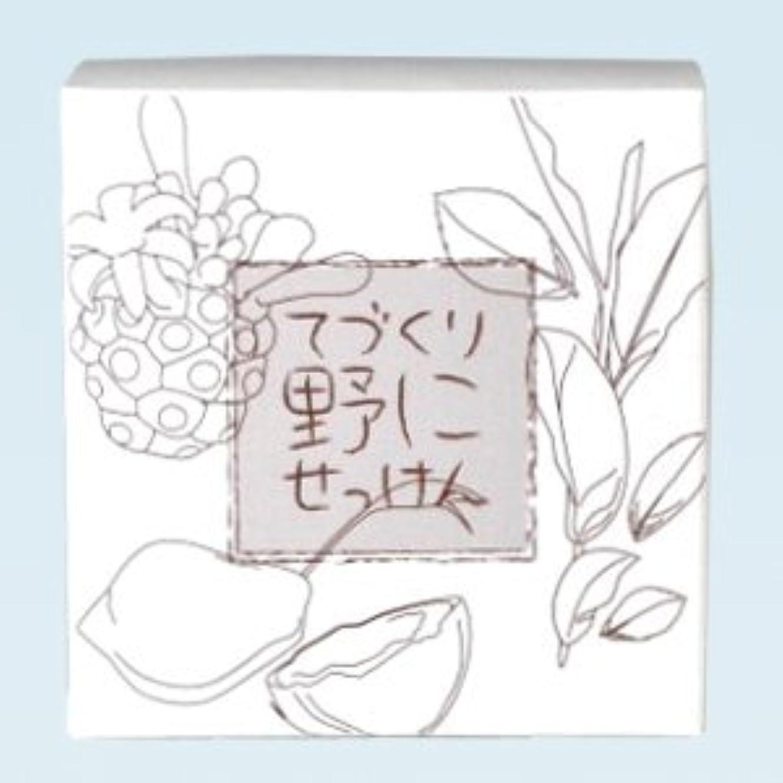 遅い教義写真を描く緑茶ノニ石鹸 てづくり野にせっけん(115g)