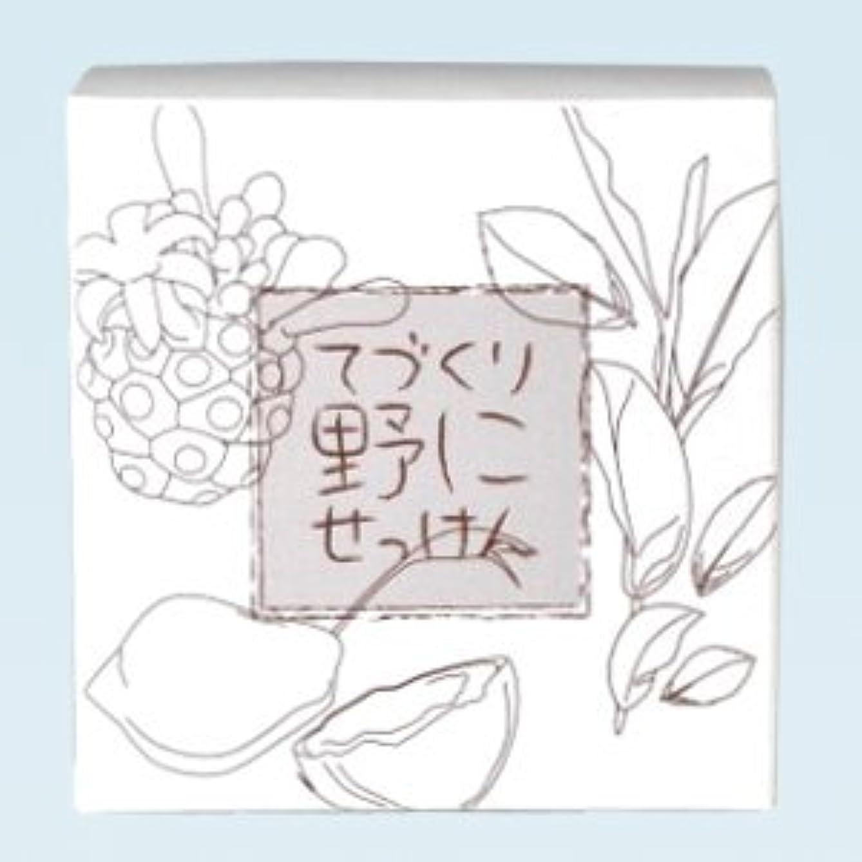 やめる罪カーフ緑茶ノニ石鹸 てづくり野にせっけん(115g)