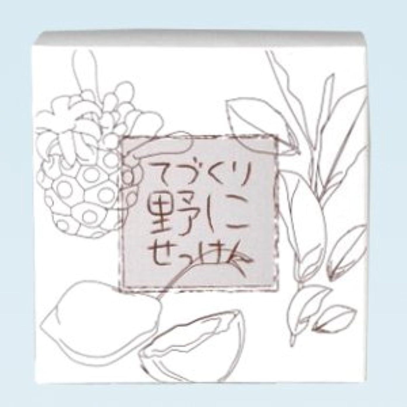 のみパラシュート尽きる緑茶ノニ石鹸 てづくり野にせっけん(115g)