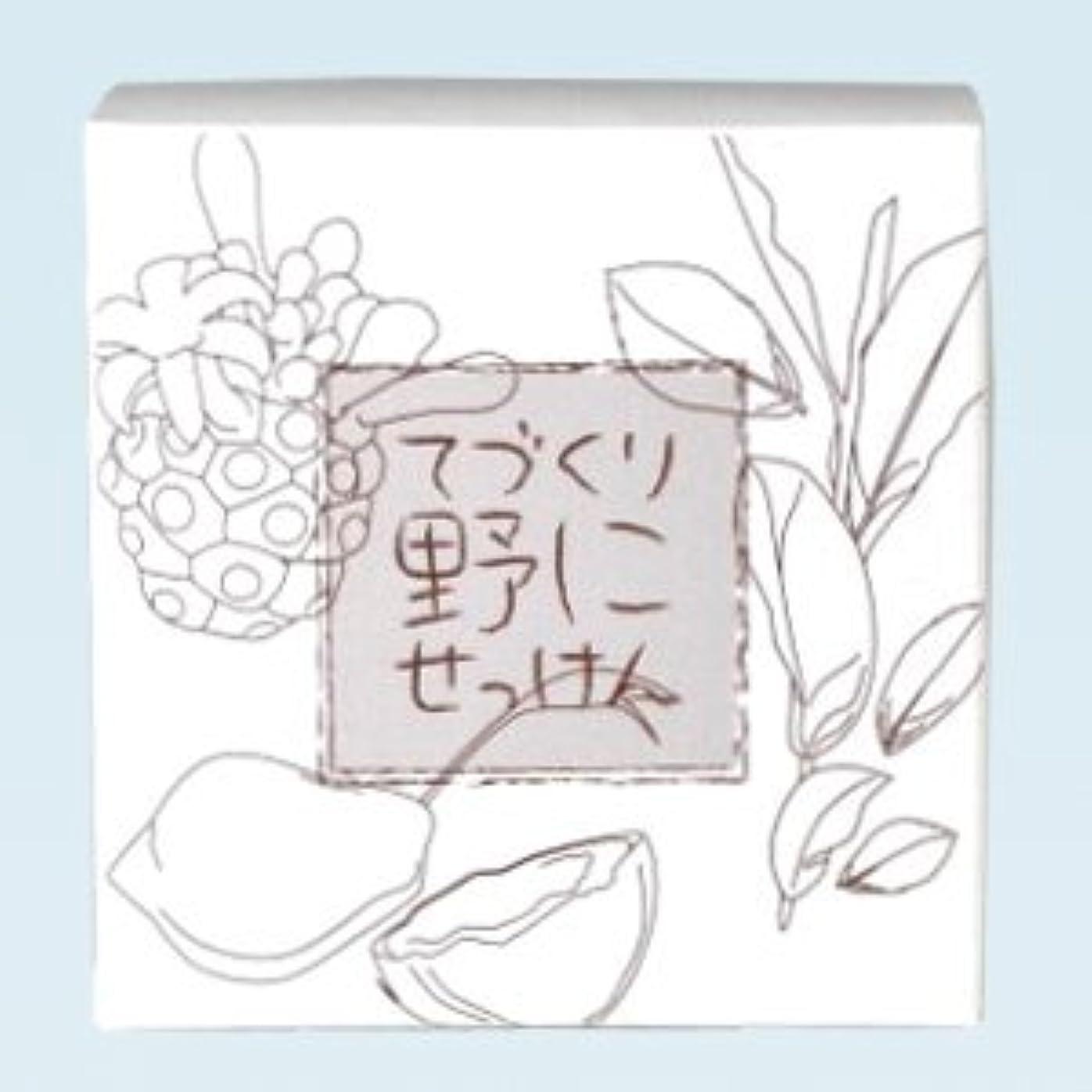 周術期織る設計緑茶ノニ石鹸 てづくり野にせっけん(115g)