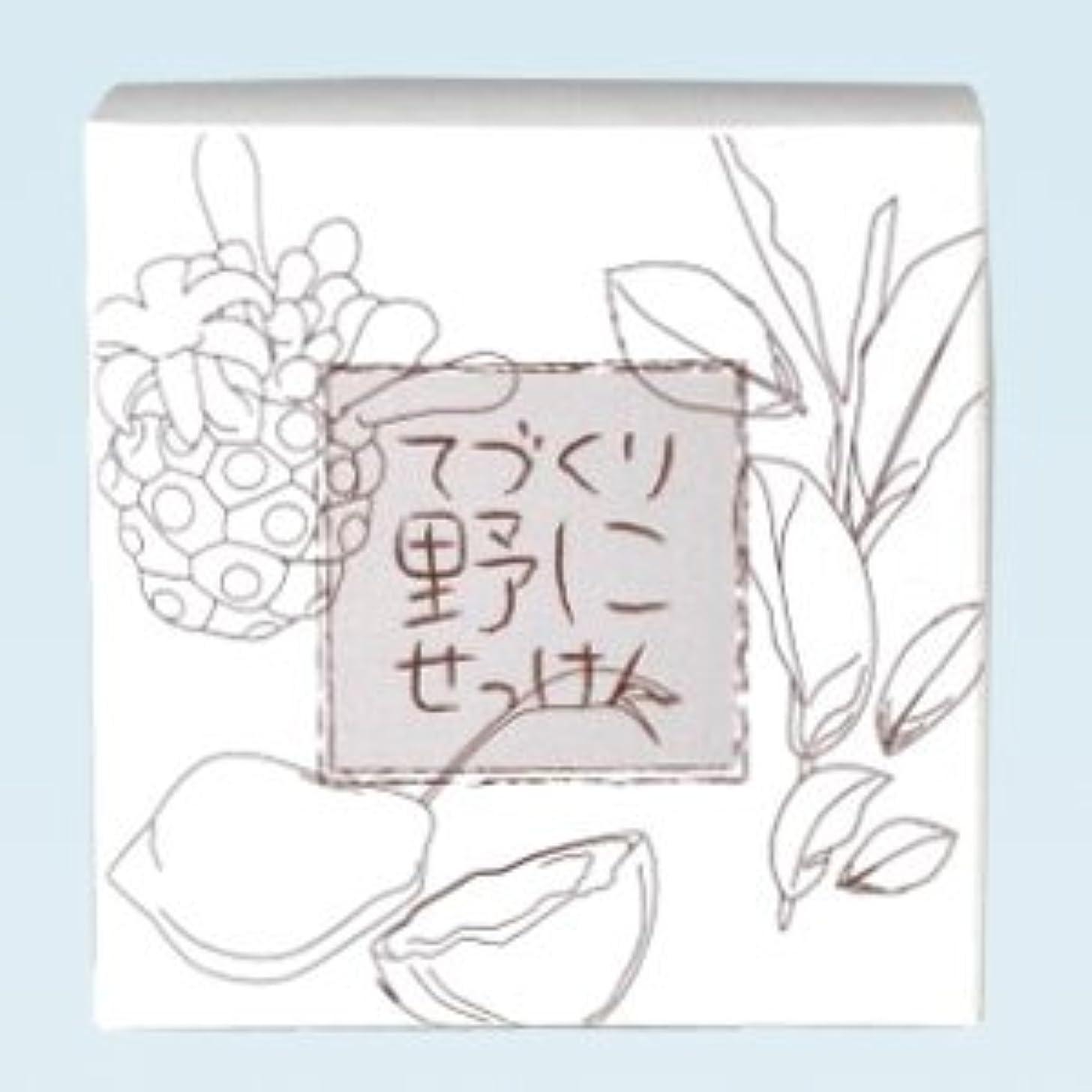 潜在的な無声で振りかける緑茶ノニ石鹸 てづくり野にせっけん(115g)