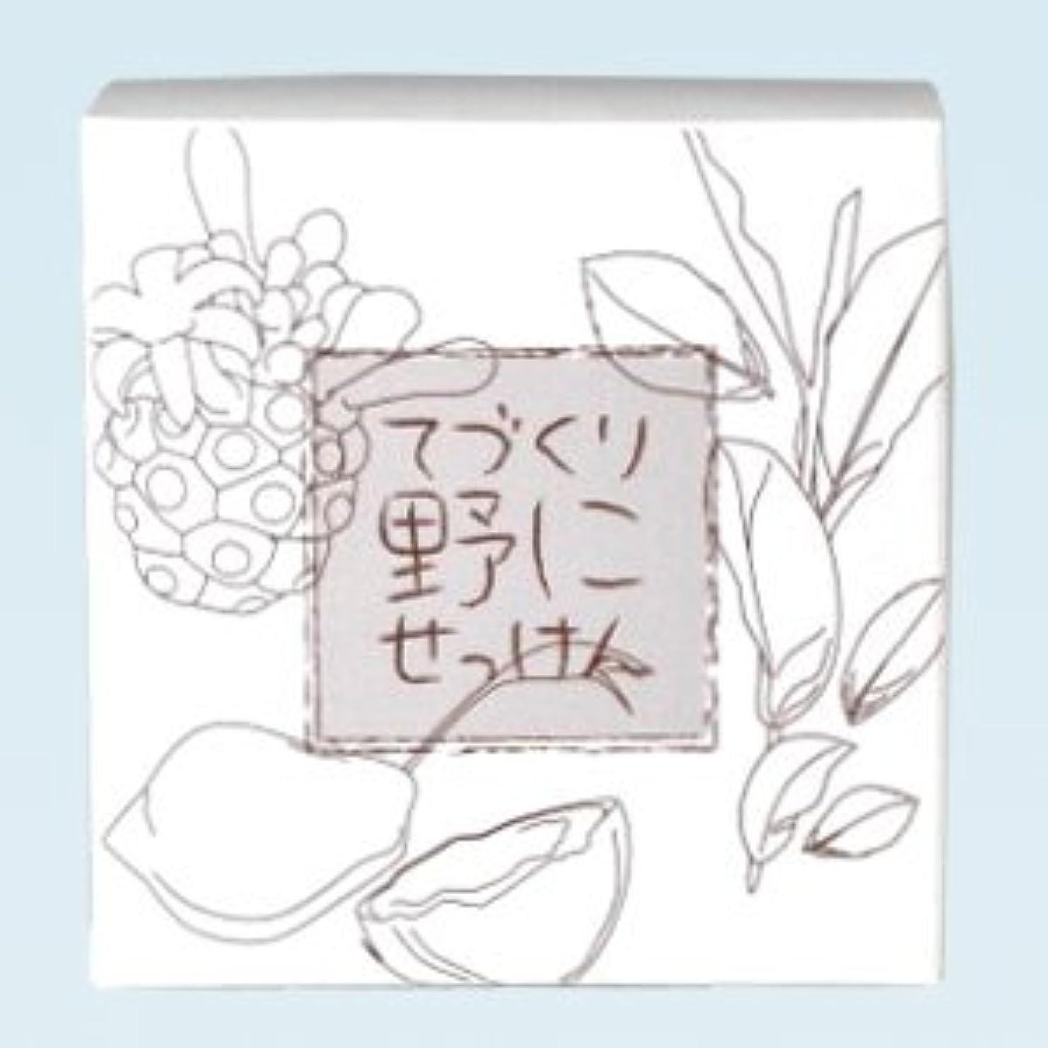 がっかりする広い急降下緑茶ノニ石鹸 てづくり野にせっけん(115g)