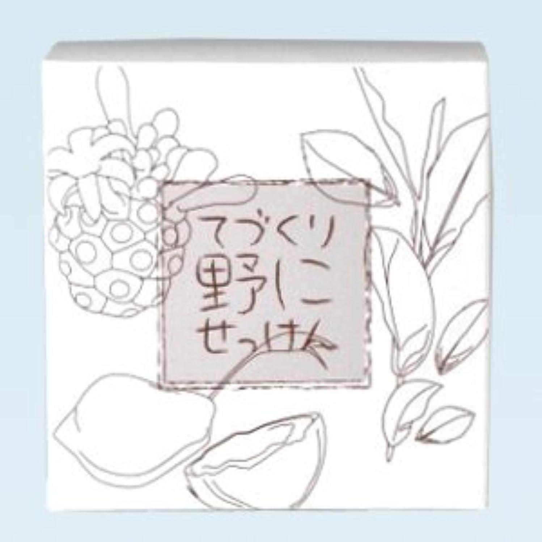 箱吹きさらし収束する緑茶ノニ石鹸 てづくり野にせっけん(115g)