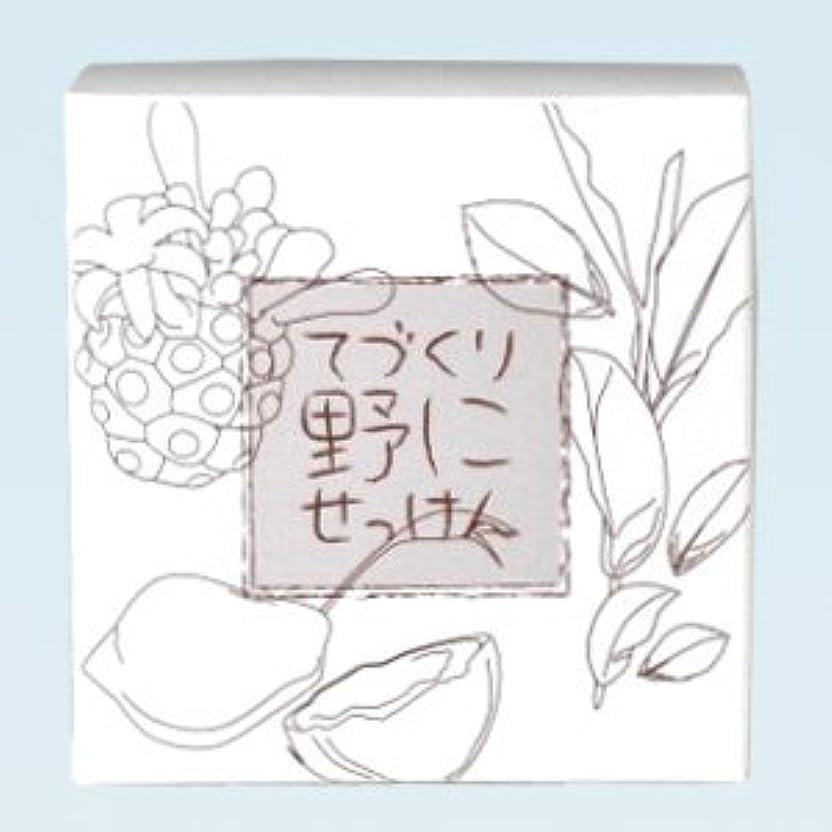 タイトル上に原点緑茶ノニ石鹸 てづくり野にせっけん(115g)