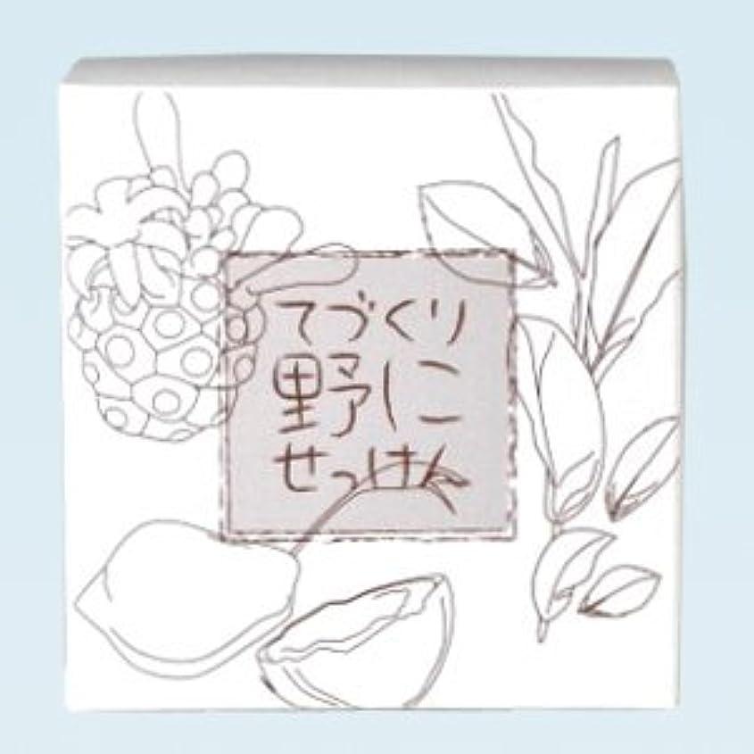居間型試用緑茶ノニ石鹸 てづくり野にせっけん(115g)