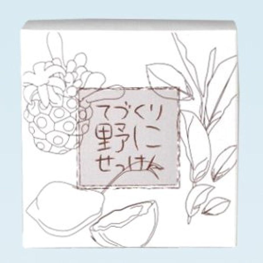 トーナメントボンド傷つきやすい緑茶ノニ石鹸 てづくり野にせっけん(115g)