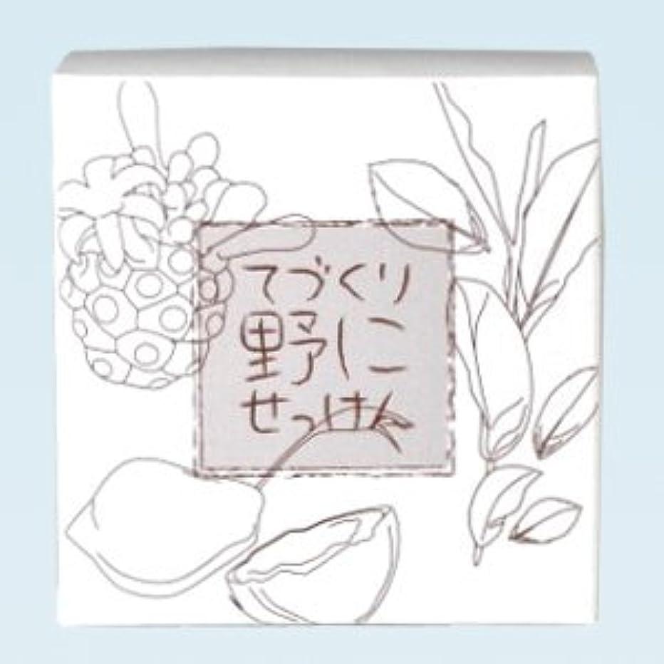通信する海港無知緑茶ノニ石鹸 てづくり野にせっけん(115g)