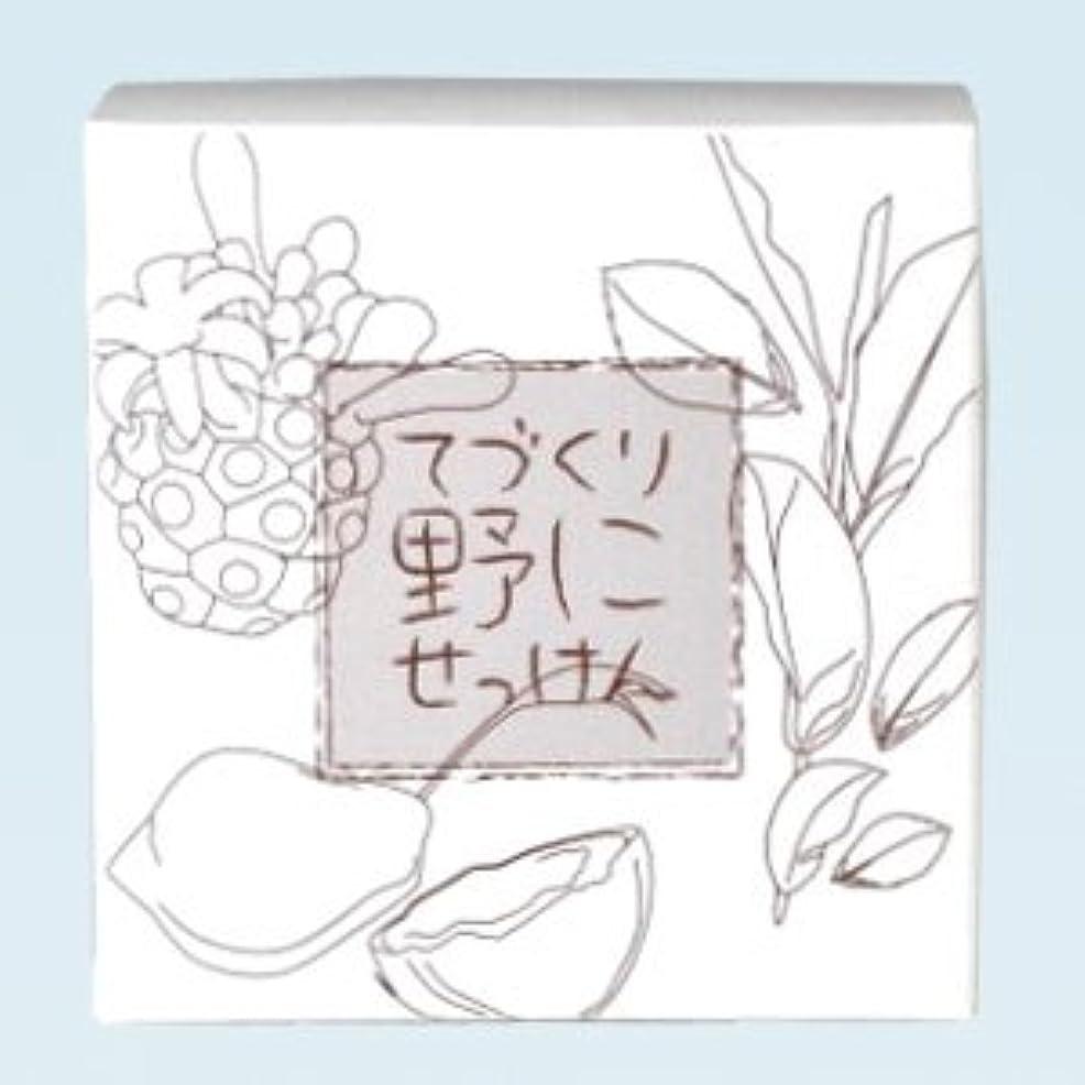 自分を引き上げる拳ローマ人緑茶ノニ石鹸 てづくり野にせっけん(115g)