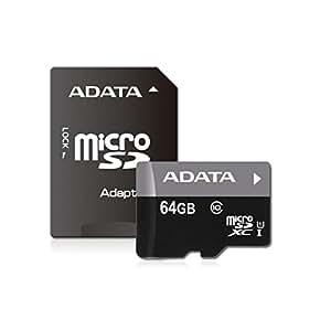 ADATA Premier microSDXCカード 64GB Class10 UHS-I AUSDX64GUICL10-RA1