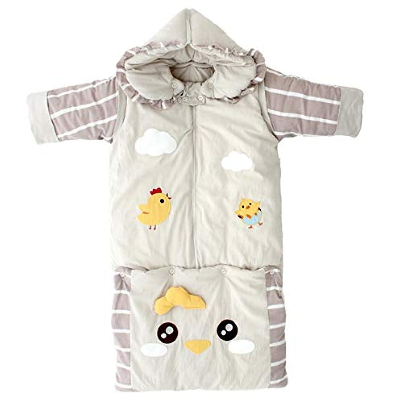 ブランドシミュレートする心のこもったベビー寝袋 赤ちゃん寝袋の赤ちゃんの毛布の足暖かく、快適な冬の足は柔らかく、通気性の赤ん坊の幼児の子供厚い毛布を着用します 新生児睡眠カプセル (色 : グレー)