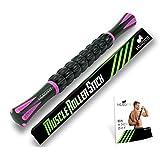 HERO FIT - マッサージローラー・スティック   トリガーポイント&筋筋膜リリース・マッサージローラー スティック (ピンク)