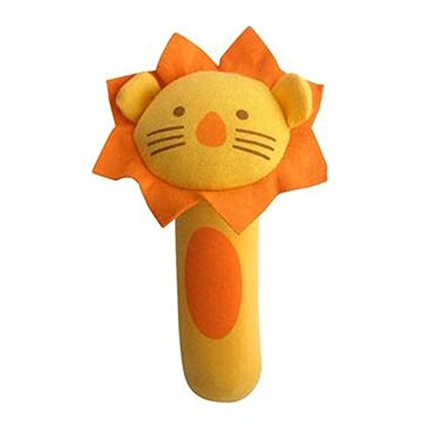 施し流分数素敵な動物の赤ちゃんのガラガラグッズベビーギフト手把握ラトル、ライオン