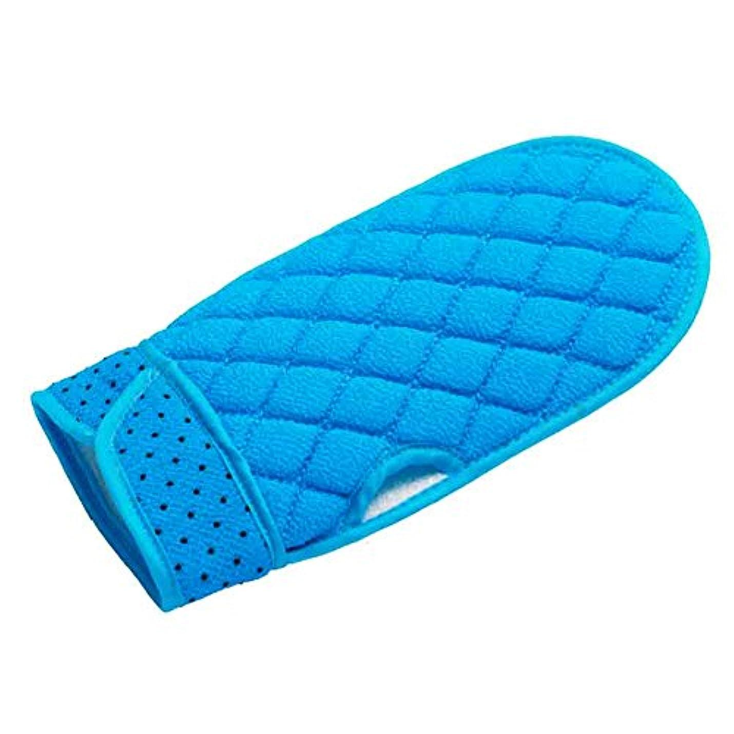 レプリカ迷惑可聴韓国式 垢すり手袋 あかすりミトン (2個セット) (Blue)
