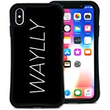 WAYLLY(ウェイリー) iPhone XS Max ケース アイフォンXS MAXケース くっつくケース 着せ替え 耐衝撃 米軍MIL規格 [メインロゴ ビッグロゴ] MK