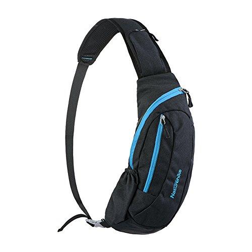 カジュアルボディバッグ ユニセックス ワンショルダー 斜め掛けバッグ 防水軽量 レジャー サイクリング/ランニング/スポーツクロスバッグ(ブルー)