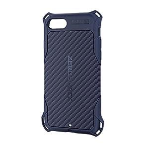 エレコム iPhone8 ケース カバー 衝撃吸収 【 落下時の衝撃から本体を守る 】 ZEROSHOCK TPU素材 カーボン iPhone7 対応 ブルー PMWA17MZEROGBU