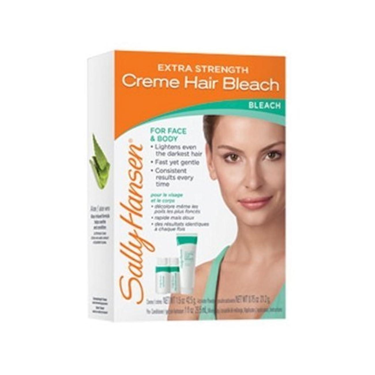 抑制薬用従順な(3 Pack) SALLY HANSEN Extra Strength Creme Hair Bleach for Face & Body - SH2010 (並行輸入品)