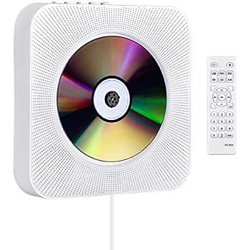 CDプレーヤー 置き&壁掛け式 1台多役 プルスイッチ式 Gueray 2019年最新版 Bluetooth USB対応 microSD LEDディスプレイ 新バージョンのリモコン付き 防塵カバー付き 音楽再生/語学学習/胎児教育 PSE認証済み 日本語説明書付き