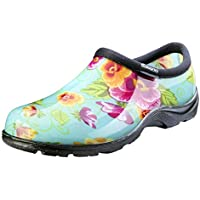 Sloggers Women's Waterproof Rain and Garden Shoe with Comfort Insole, Pansy Turquoise, Size 9, Style 5114TP09