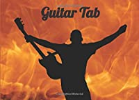 """Blank Guitar Tab Notebook: Smaller size (8.25"""" x 6"""" / 20.96 x 15.24 cm - about A5 landscape), 7 staves per page, 50 pages, index at front."""