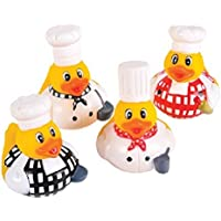 2'' Chef Rubber Duck Pack of 12 by RUBBER TOYS [並行輸入品]