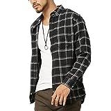 (アーケード) ARCADE メンズ 長袖 シャツ カジュアルシャツ ネルシャツ ネルチェックシャツ M ブラック(チェック)