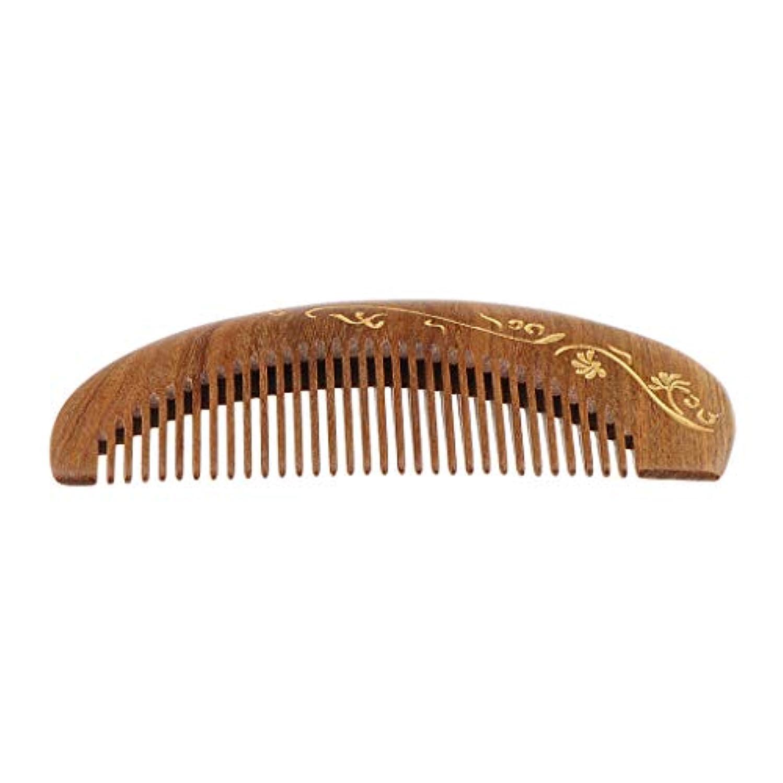 ペンダント組み合わせ規定SM SunniMix 木製ヘアコーム 静電気防止櫛 ヘアサロン 広い歯 マッサージ櫛 4仕様選べ - #2