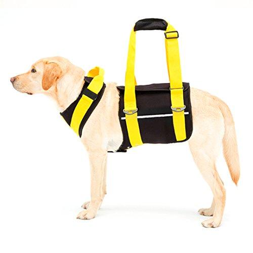 株式会社トンボ With 歩行補助ハーネス LaLaWalk 大型犬用 ネオプレーン 黒 S