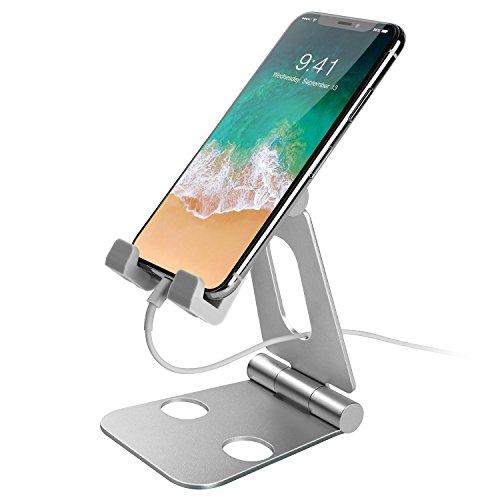スマホ タブレット スタンド 重心/高さ/角度調整 4-10'' iPhone x 8 7 6 6s plus 5 5s/Samsung S3 S4 S5 S6 S7/Galaxy S7 S6/iPad 対応 (シルバー)