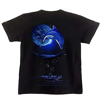 イルカ ドルフィン 海 夏 表もデザイン有 黒 ブラック BLACK XS サイズ
